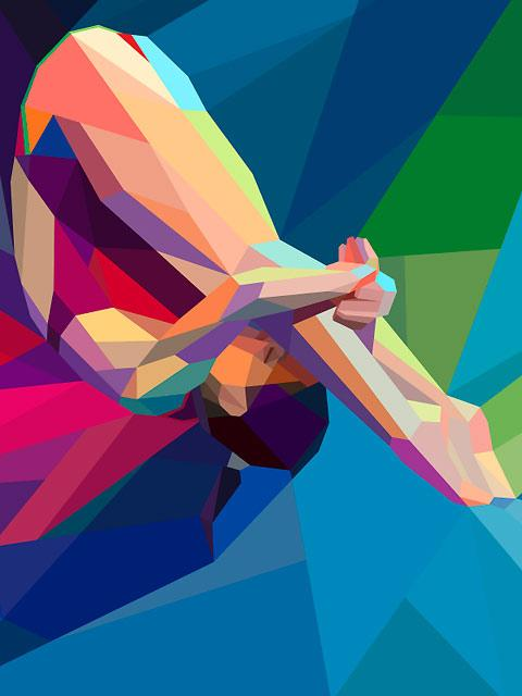 Olympic-themed illustrations by Charis Tsevis — Lost At E Minor: For creative people