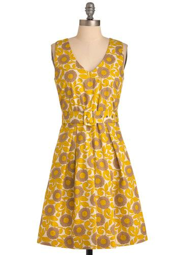 Mustard the Art of Style Dress | Mod Retro Vintage Dresses | ModCloth.com