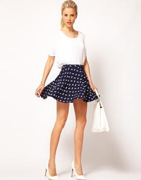ASOS | ASOS Skater Skirt in Horse Print at ASOS