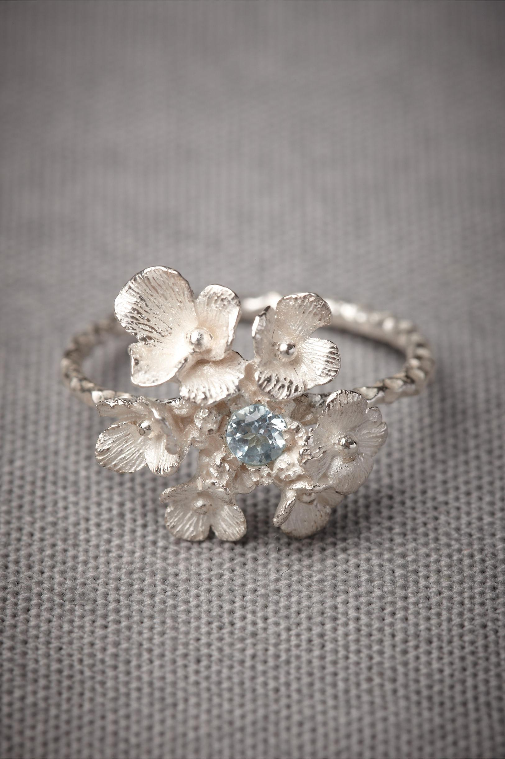 Silvered Posy Ring in SHOP The Bride Bridal Jewelry at BHLDN