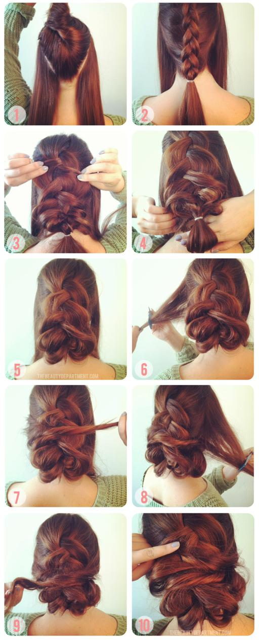 The Beauty Department: Your Daily Dose of Pretty. - 1 INSIDE OUT FRENCH BRAID & 2 TWISTS