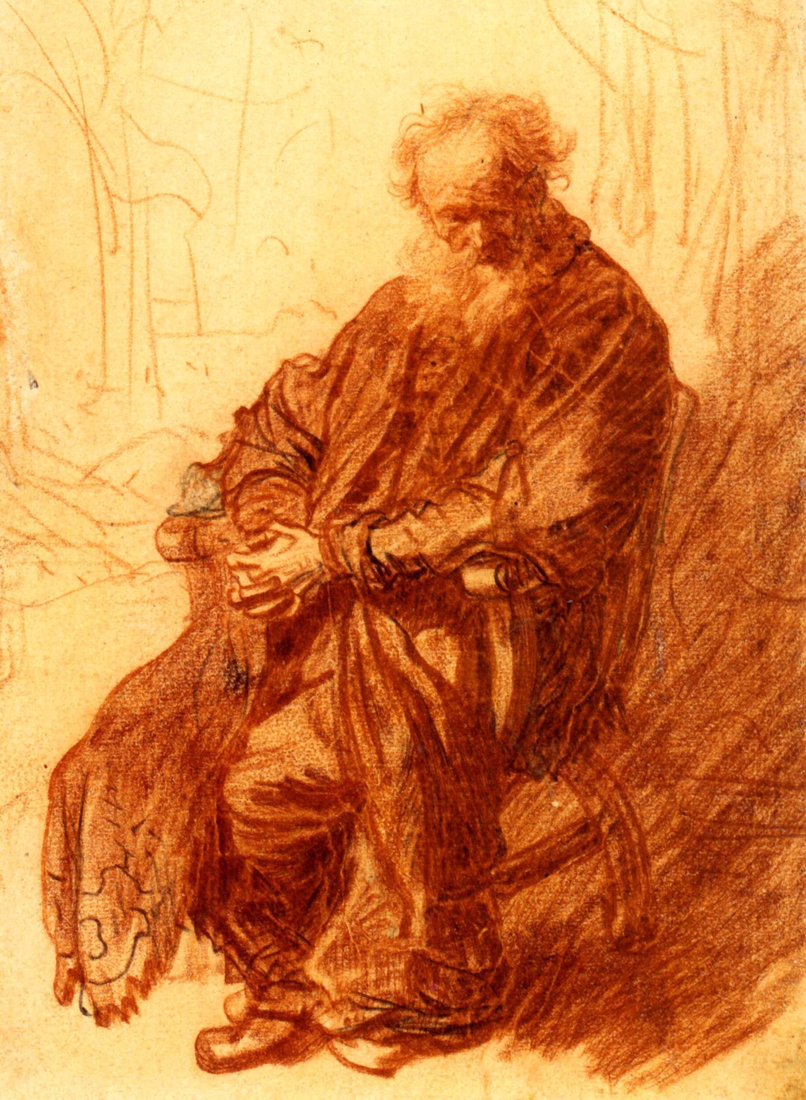 1631-Rembrandt-Vieillard-assis-Sitted-old-man-Dessin-Sanguine-et-pierre-noire-226x157-mm-Kupferstichkabinett-Benesch-41.jpg (1661×2267)