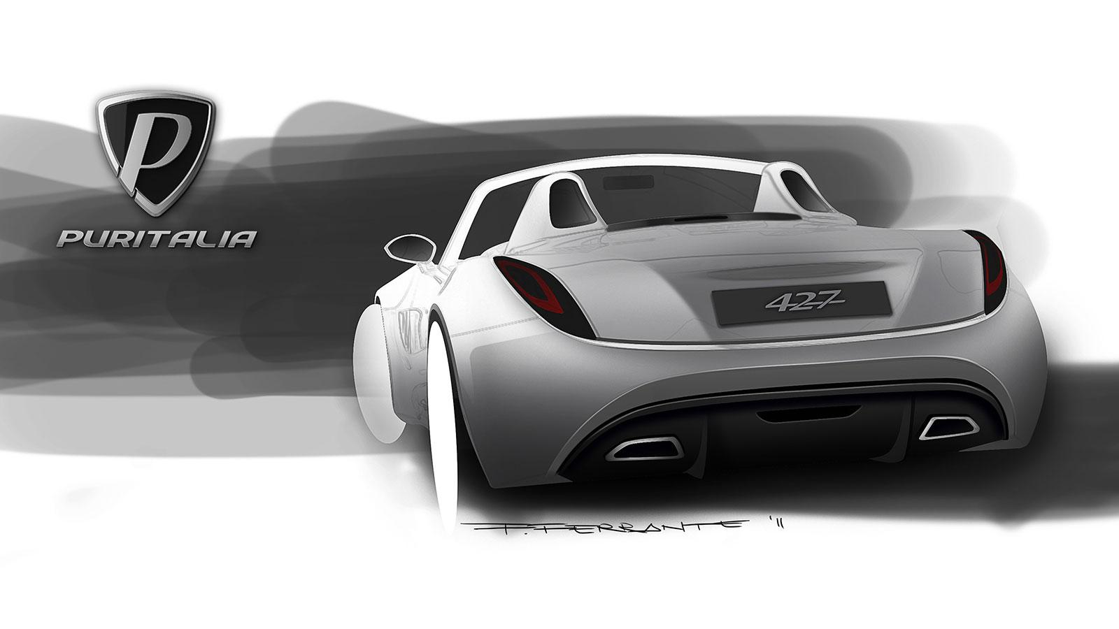 Puritalia 427 Design Sketch - Car Body Design