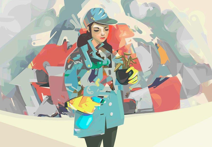 25 Distinctive Vector Illustrations by PÁL | inspirationfeed.com