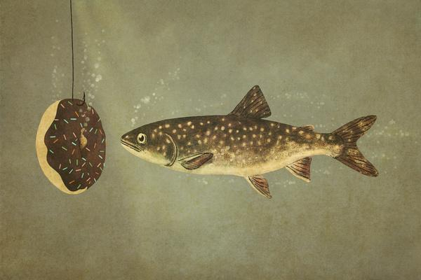 Irresistible Bait Art Print by Terry Fan | Society6