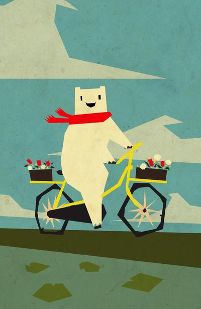 Yeti Taking a Ride Art Print by Yetiland | Society6