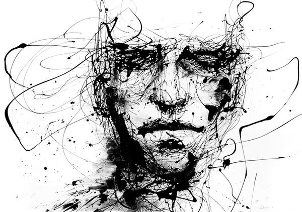 lines hold the memories Stretched Canvas by Agnes-cecile | Society6