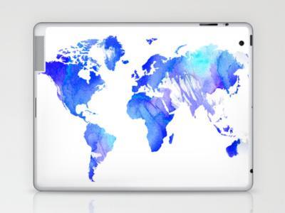 Watercolour World Laptop & iPad Skin by Ally Coxon | Society6