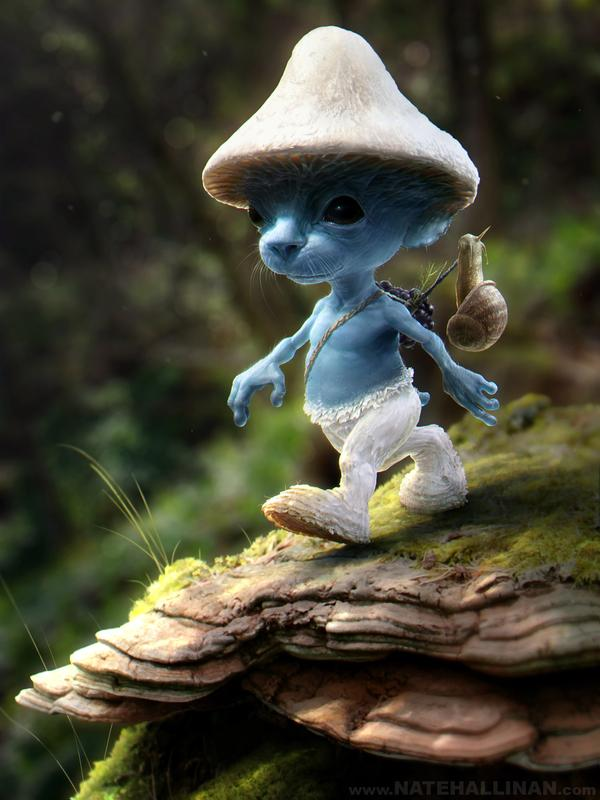 Smurf Sighting by Nate Hallinan | The Visual Wall