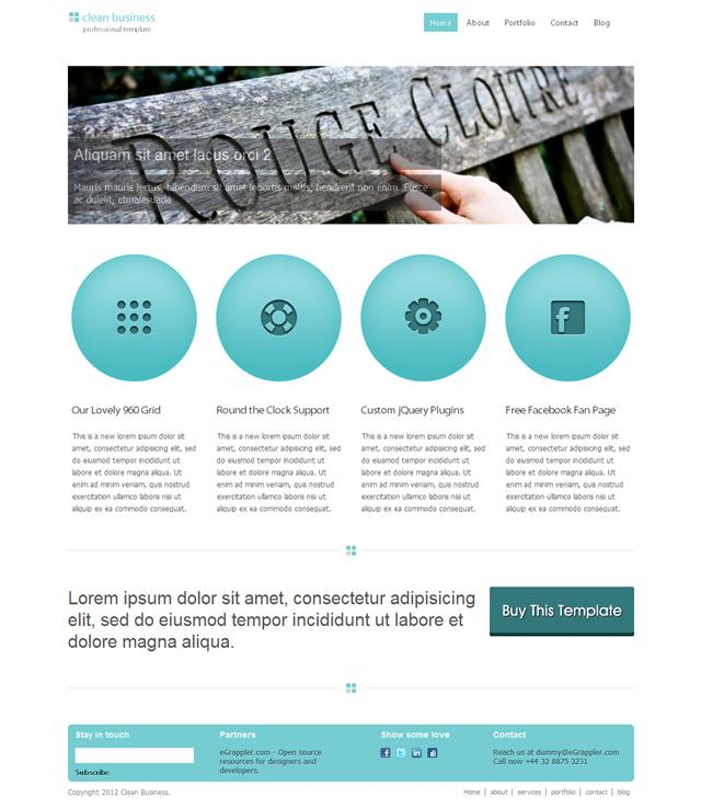 Free Clean Business HTML/CSS Template - Speckyboy Design Magazine