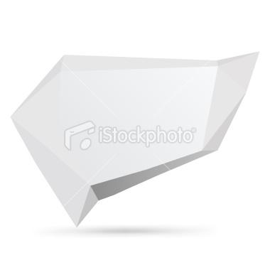 Origami speech bubble | Stock Illustration | iStock