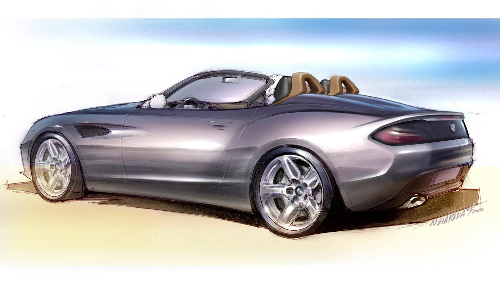 BMW Zagato Roadster - Design Sketch - Car Body Design