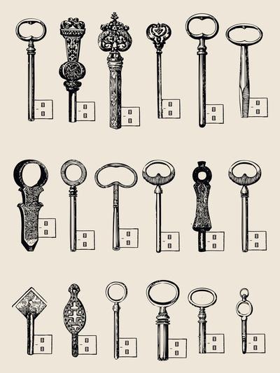 Usb Keys Art Print by Speakerine | Society6
