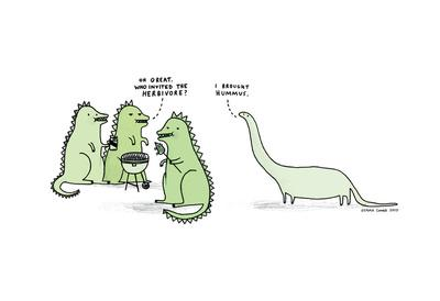 Who Invited the Herbivore? Art Print by Gemma Correll | Society6