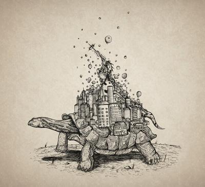 Tortoise Town Art Print by Brandon Dover (Braniel) | Society6