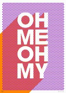 Print Club London | shop | oh_me_oh_my_orange_purple
