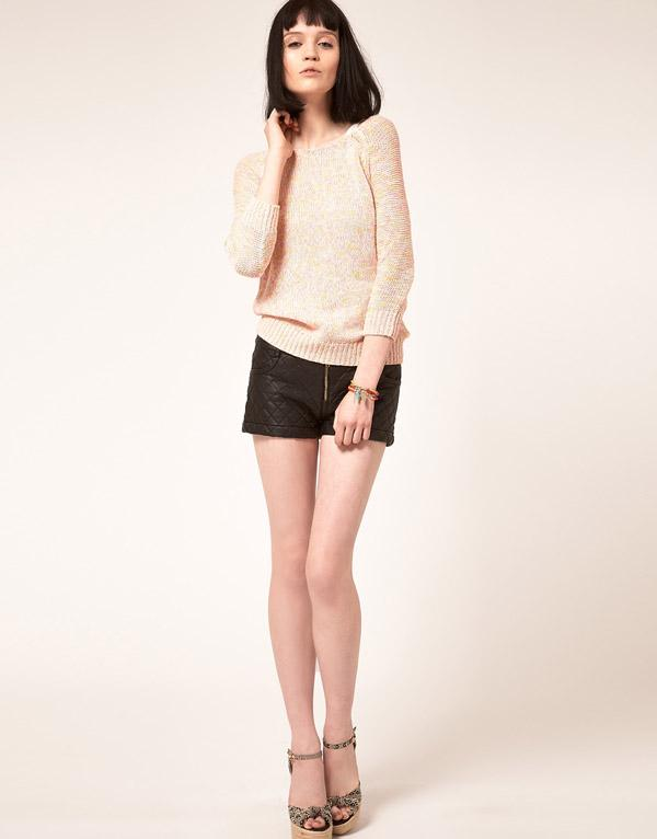 5. Three Floor Dark Horse Faux Leather Shorts