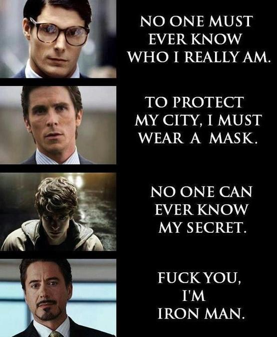 Get Your Geek On / Yep. Iron Man's my fave superhero! (Well... Batman is tied with him actually.)