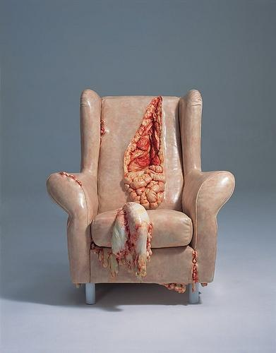 My Dark Side / chair spills it's guts.