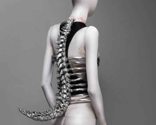 "My Dark Side / ""spine"" corset, untitled, SS 1998, Alexander McQueen. 