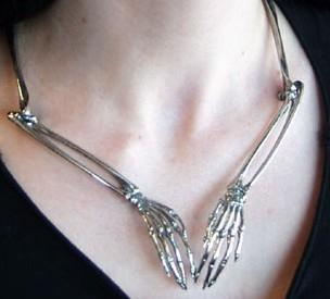 My Dark Side / Skeleton Arms Necklace (seen on Warehouse 13) - $125 - http://www.goreydetails.net/shop/index.php?main_page=product_info&cPath;=257_260&products;_id=1280&zenid;=55homtabqpi2o4n4va7a9k5qf2