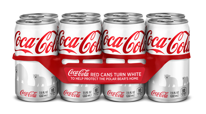Coca-Cola Red Cans Turn Arctic White - TheDieline.com - Package Design Blog