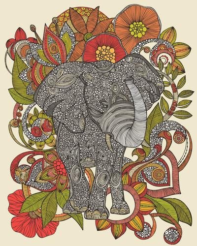 Bo the elephant Art Print by Valentina | Society6