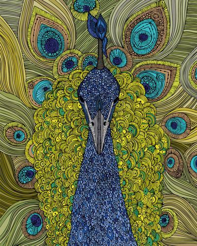 Mr. Pavo Real Art Print by Valentina | Society6