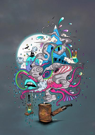 Pipe Dreams Art Print by Mat Miller | Society6