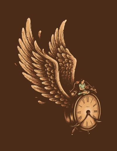 Time Flies Art Print by Enkel Dika | Society6