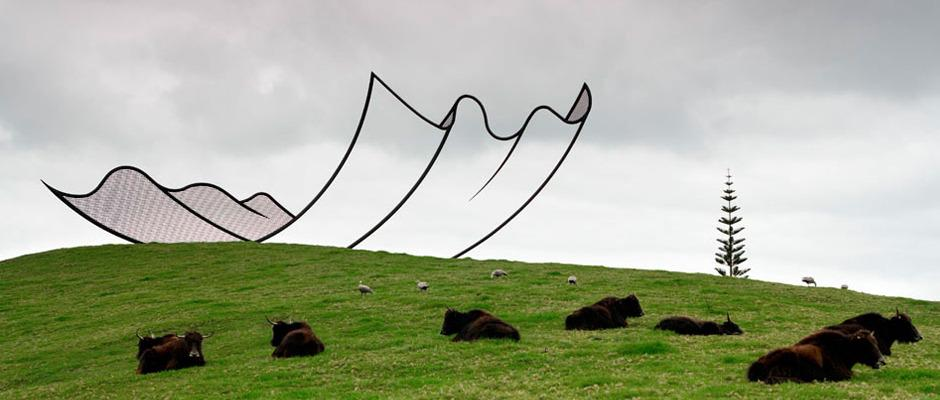 It's Nice That : Taking eye-trickery to a whole new level – the otherworldly New Zealand sculpture park Gibbs Farm