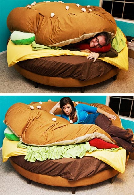 The Hamburger Bed. | WTFoodge
