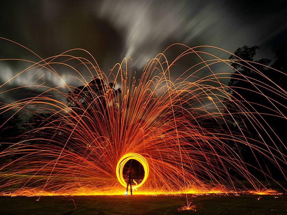 Night Picture -- Fire Wallpaper -- National Geographic Photo of the Day