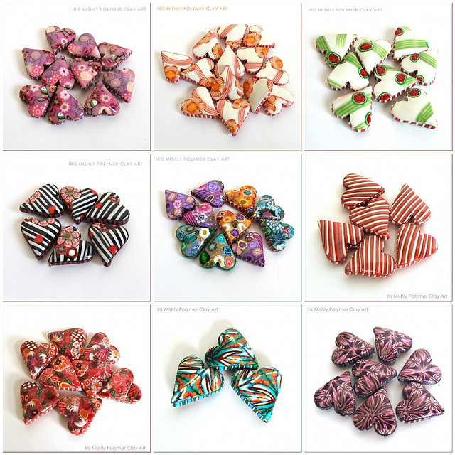 Polymer Clay Heart Pillow Beads - 2010 Collections | Flickr - Photo Sharing!