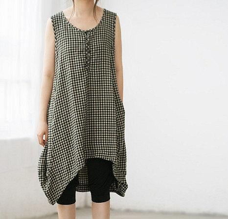 sleeveless summer dress Irregular sleeveless gown by MaLieb