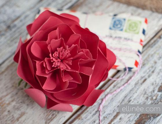 DIY Paper Peony | Ellinée journal | DIY Blog