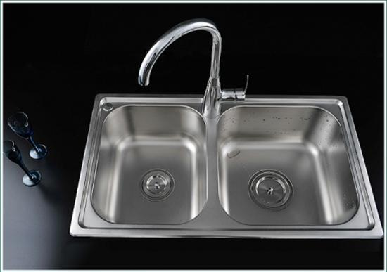Stainless Steel Two Bowls Kitchen Sink– FaucetSuperDeal.com