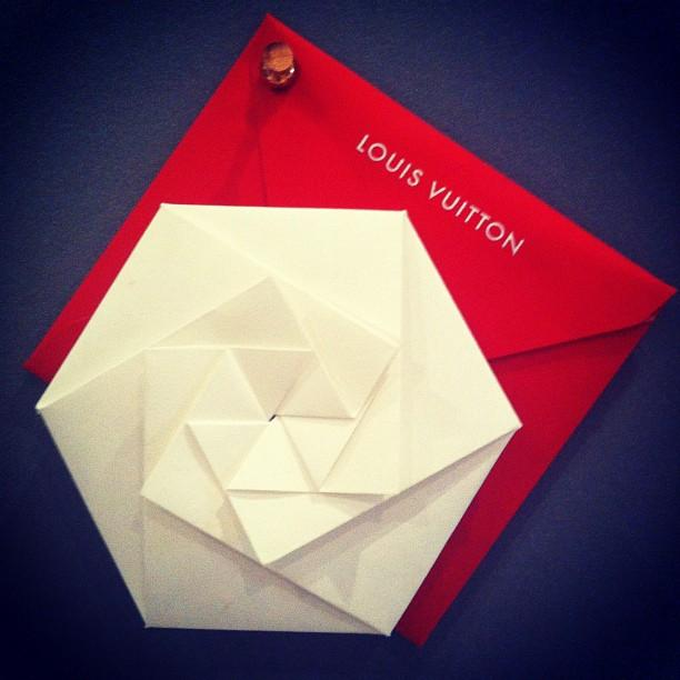 CP Journal (Hot off the press;  the new origami invitation...)