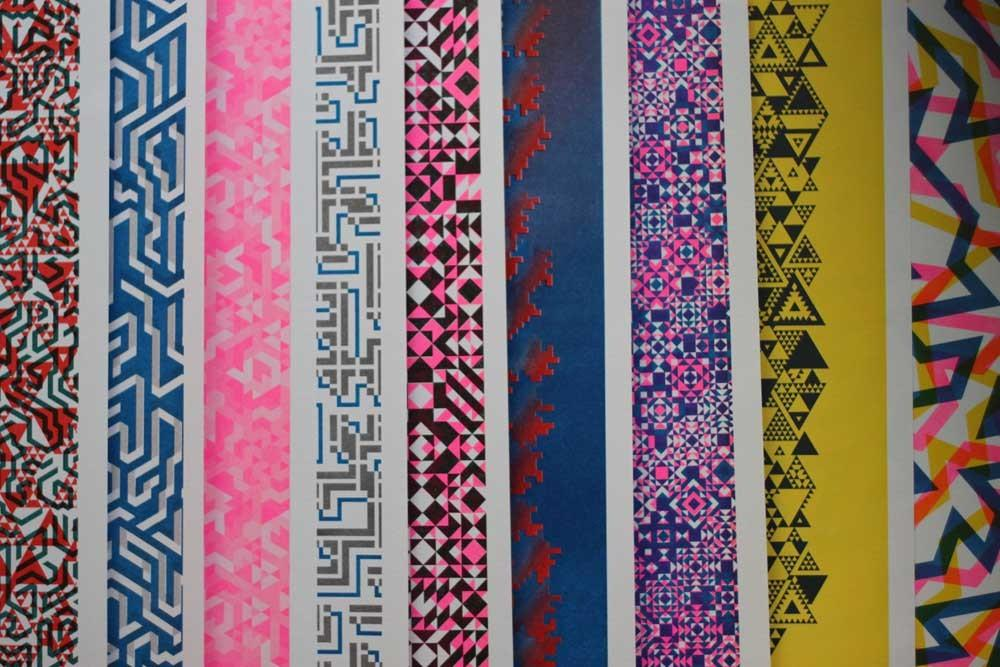 Patterned Risograph Prints