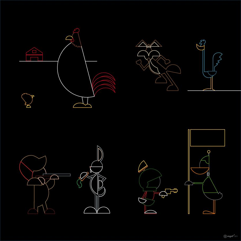 looney_tunes_alternative_lines.jpg (912×912)