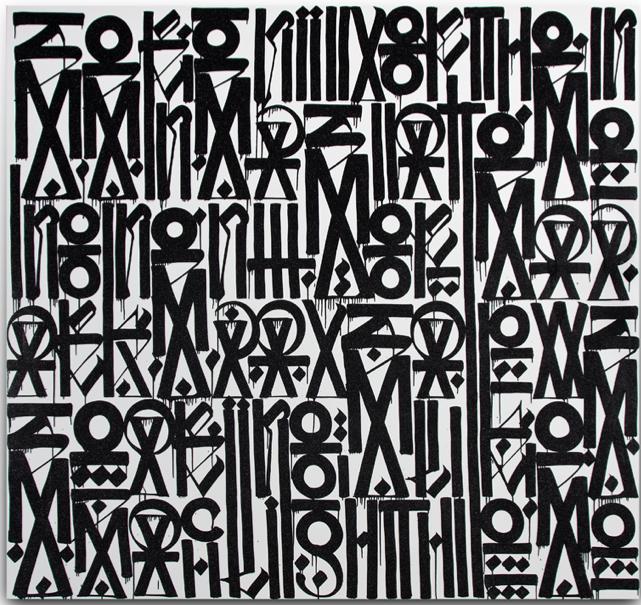 Juxtapoz Magazine - RETNA @ Michael Kohn Gallery, Los Ángeles | Current