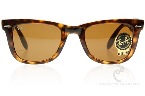 Ray-Ban RB4105 Folding Wayfarer Sunglasses, Ray Ban Sunglasses - Contactsandspecs.com