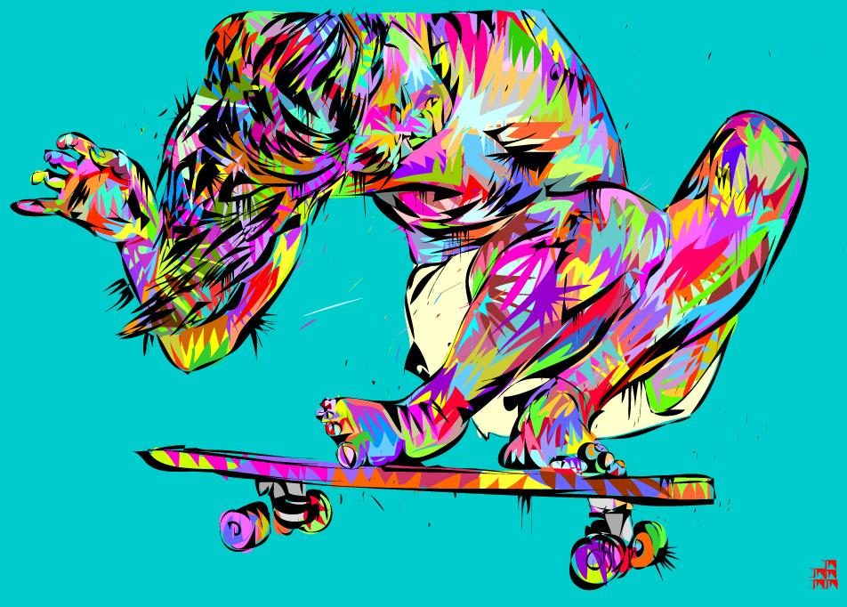 30+ Vibrant and Flashy Illustrations By TechnoDrome1