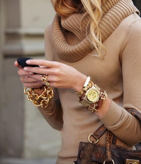 Gold + Tan