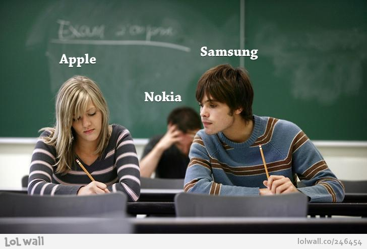 Apple Samsung Nokia - LOL Wall