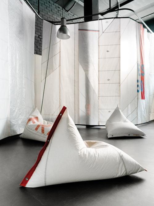 Get Out! DVELAS Furniture Made from Sails | Design Milk