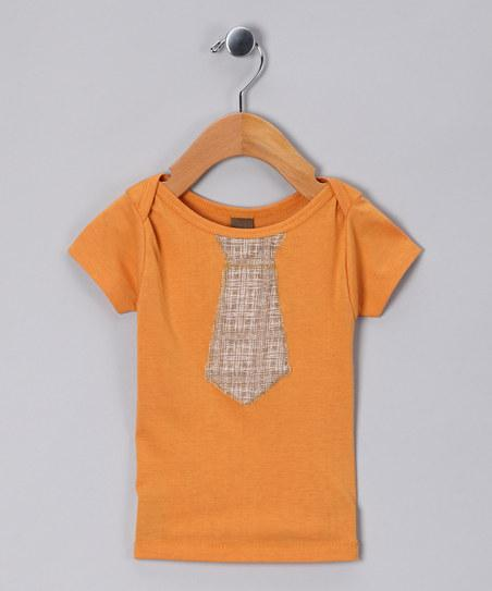 Orange Tie Organic Tee - Infant & Toddler | Daily deals for moms, babies and kids