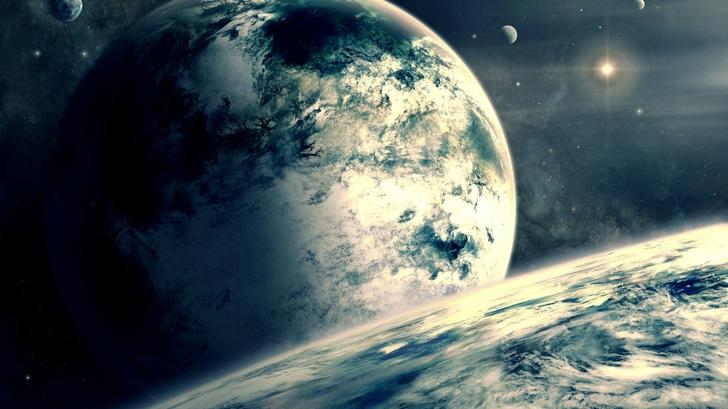 outer space planets digital art science fiction artwork 1920x1080 wallpaper High Quality Wallpapers,High Definition Wallpapers