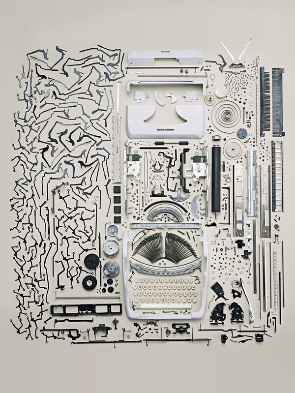 Flavorwire » Pic of the Day: Todd McLellan's Deconstructed Typewriter