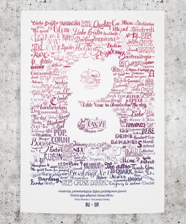 Typography - Lettering Poster by Mark Fromberg and Claudia Silbermann - WE AND THE COLOR